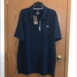NWT Mens ADIDIAS Golf Shirt XL NAVY